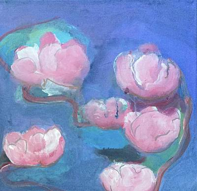 Painting - Abstract Pink Flowers by Cherylene Henderson