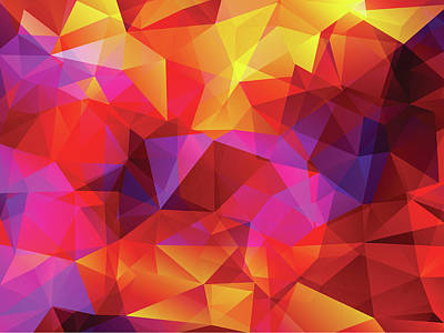 Digital Art - Abstract  Polygonal  Background by Carduus
