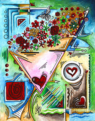 Abstract Pop Art Face Art Original Empowered Painting By Megan Duncanson Original