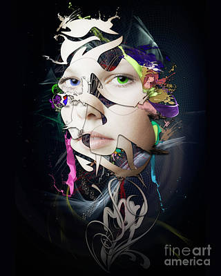Erik Brede Rights Managed Images - Abstract Portrait No 10 Royalty-Free Image by Erik Brede
