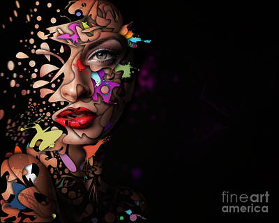 Erik Brede Rights Managed Images - Abstract Portrait No 12 Royalty-Free Image by Erik Brede