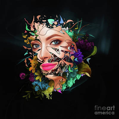 Painting - Abstract Portrait Number Thirteen by Erik Brede