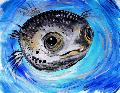 Painting - Abstract Puffer Fish, Two by J Vincent Scarpace