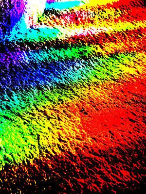 Digital Art - Abstract Rainbow Light 1 by Artist Dot