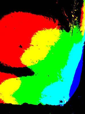 Digital Art - Abstract Rainbow Light 3a by Artist Dot