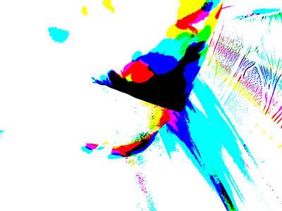 Digital Art - Abstract Rainbow Light 5a by Artist Dot