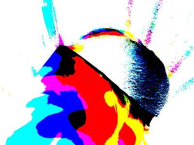 Digital Art - Abstract Rainbow Light 6b by Artist Dot