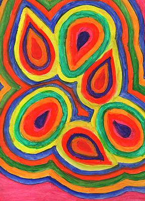 Painting - Abstract Rainbow Petals by Irina Dobrotsvet