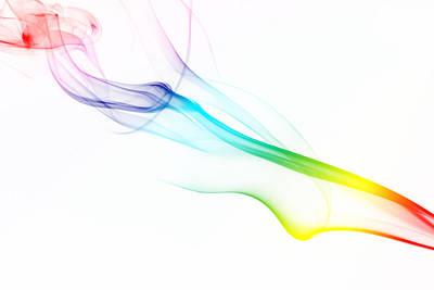 Photograph - Abstract Rainbow Smoke by Tomodaji