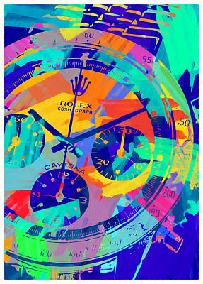Royalty-Free and Rights-Managed Images - Abstract Rolex Digital Paint 1 by Ricky Barnard
