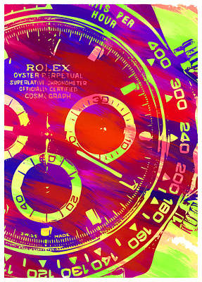 Royalty-Free and Rights-Managed Images - Abstract Rolex Digital Paint 10 by Ricky Barnard