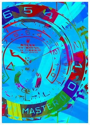 Royalty-Free and Rights-Managed Images - Abstract Rolex Digital Paint 11 by Ricky Barnard