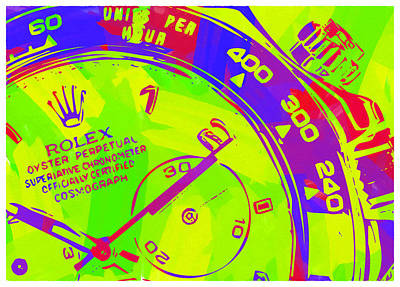 Royalty-Free and Rights-Managed Images - Abstract Rolex Digital Paint 12 by Ricky Barnard