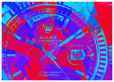 Royalty-Free and Rights-Managed Images - Abstract Rolex Digital Paint 7 by Ricky Barnard