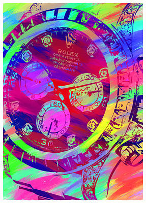 Royalty-Free and Rights-Managed Images - Abstract Rolex Digital Paint 9 by Ricky Barnard