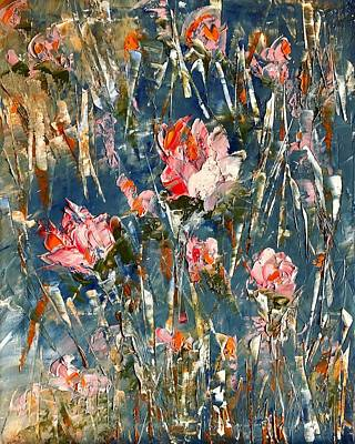 Painting - Abstract Roses Contemporary Painting by Jennifer Morrison Godshalk