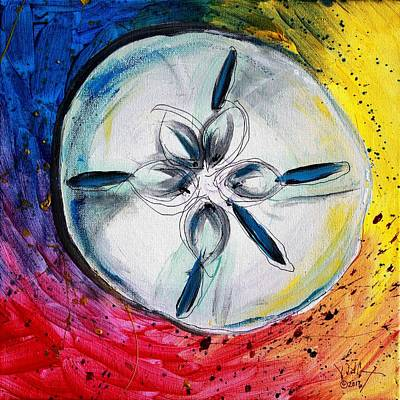 Painting - Abstract Sand Dollar, 6 by J Vincent Scarpace