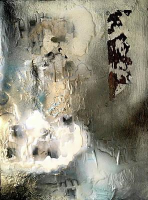 Joan Raspo Wall Art - Mixed Media - Abstract Snow by Joan Raspo