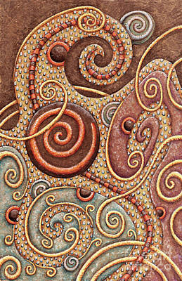 Painting - Abstract Spiral 1 by Amy E Fraser