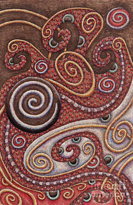 Painting - Abstract Spiral 6 by Amy E Fraser
