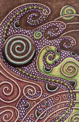 Painting - Abstract Spiral 7 by Amy E Fraser