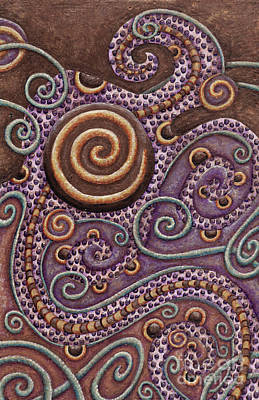 Painting - Abstract Spiral 8 by Amy E Fraser