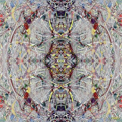 Digital Art - Abstract Symmetry 1 by Walter Oliver Neal