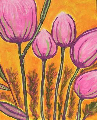 Abstract Tulips Original