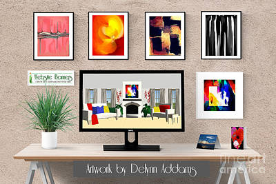 Digital Art - Abstract Wall Art Bundle By Delynn Addams by Delynn Addams