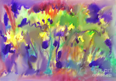 Painting - Abstract Watercolor Background. Spring Bloom by Irina Dobrotsvet