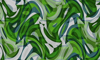 Digital Art - Abstract Waves Painting 0010087 by P Shape