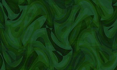Digital Art - Abstract Waves Painting 0010090 by P Shape
