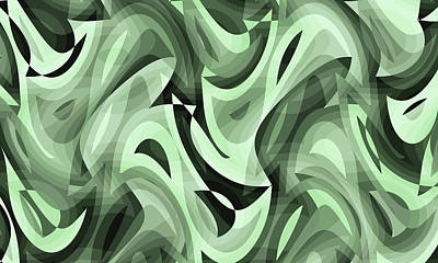 Digital Art - Abstract Waves Painting 0010095 by P Shape