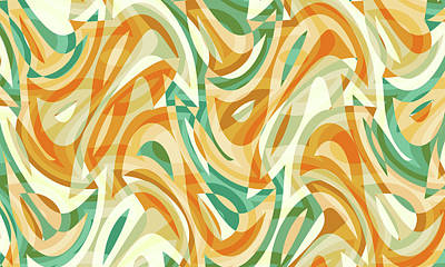 Digital Art - Abstract Waves Painting 0010105 by P Shape