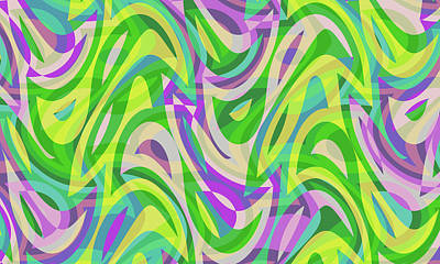 Digital Art - Abstract Waves Painting 0010113 by P Shape