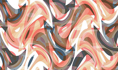 Digital Art - Abstract Waves Painting 0010117 by P Shape