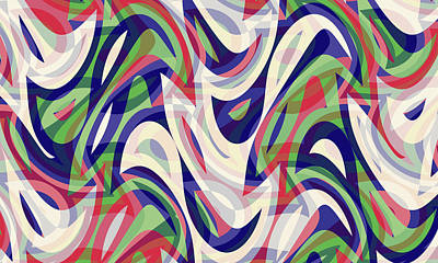 Digital Art - Abstract Waves Painting 0010118 by P Shape