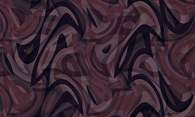 Pop Art Rights Managed Images - Abstract Waves Painting 002753 Royalty-Free Image by CarsToon Concept