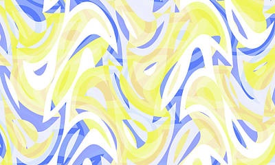 Moody Trees - Abstract Waves Painting 004306 by CarsToon Concept