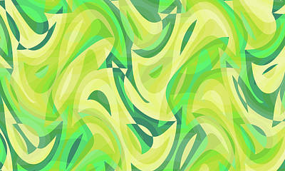 Up Up And Away - Abstract Waves Painting 005256 by CarsToon Concept