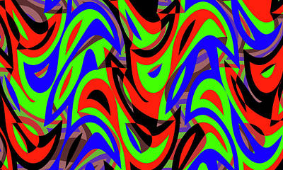 Pop Art Rights Managed Images - Abstract Waves Painting 005581 Royalty-Free Image by CarsToon Concept