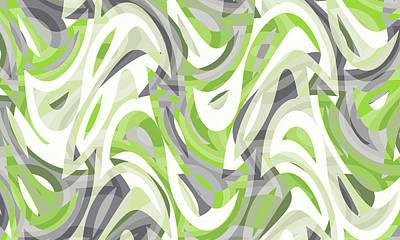 Farm Life Paintings Rob Moline Royalty Free Images - Abstract Waves Painting 007501 Royalty-Free Image by CarsToon Concept