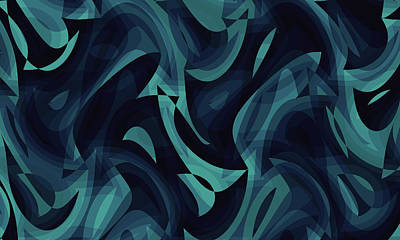 Digital Art - Abstract Waves Painting 007740 by P Shape