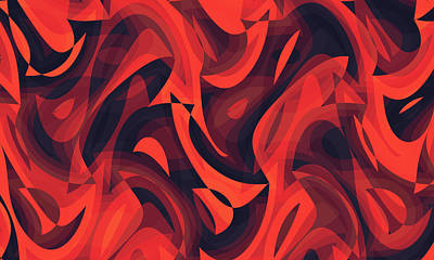 Digital Art - Abstract Waves Painting 007748 by P Shape