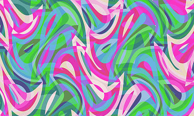 Digital Art - Abstract Waves Painting 007754 by P Shape