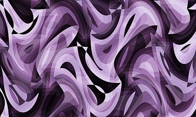 Digital Art - Abstract Waves Painting 007755 by P Shape
