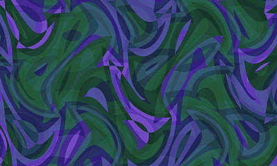 Digital Art - Abstract Waves Painting 007767 by P Shape