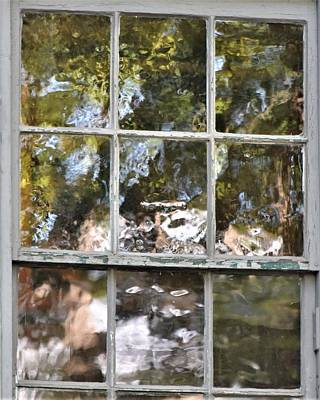 Photograph - Abstract Window Reflections by Kim Bemis