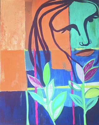 Painting - Abstract With Face by Cherylene Henderson