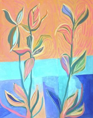 Painting - Abstract With Leaves by Cherylene Henderson